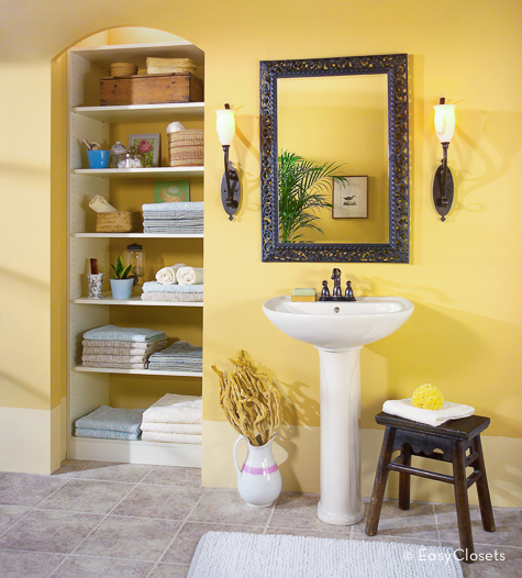 Bathroom Closet Shelving by EasyClosets.